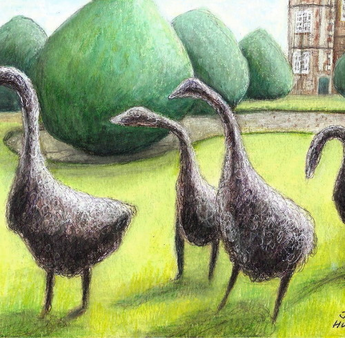 Wire Geese in Burton Agnes