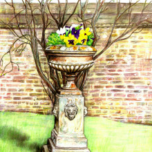 flower pot @ Burton Agnes