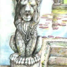 stone lion at burton agnes